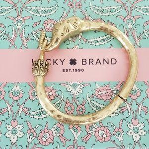 Lucky Brand Gold Elephant Cuff Bracelet